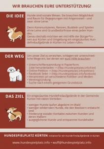 Info Flyer Hundespielplatz A5
